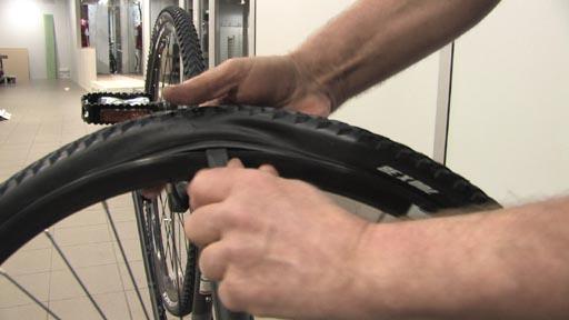 Bytte sykkelslange